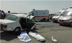 برخورد شدید دو خودرو در محور قم – کهک یک کشته و هفت مجروح برجای گذاشت