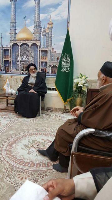 دیدار حاج باقر بهجتی با آیت الله سعیدی تولیت آستان مقدس حضرت فاطمه معصومه س