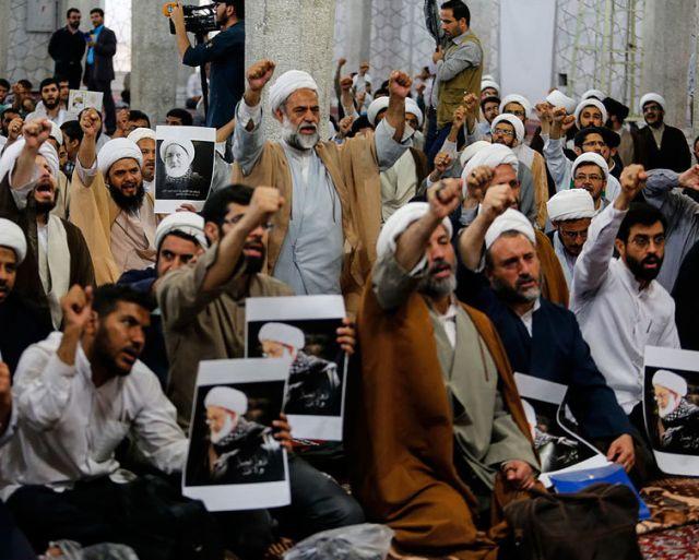 تجمع طلاب در محکومیت سرکوب مردم انقلابی بحرین و حمایت از شیخ عیسی قاسم