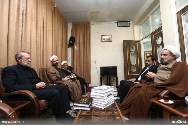 دیدار رئیس مجلس با حجج الاسلام جوادی آملی و موسوی اردبیلی