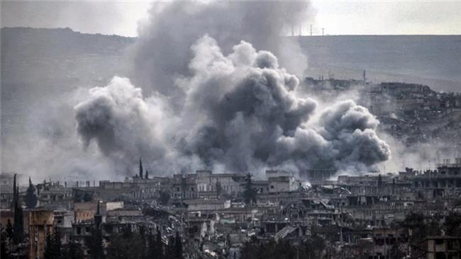بمباران مردم سوریه