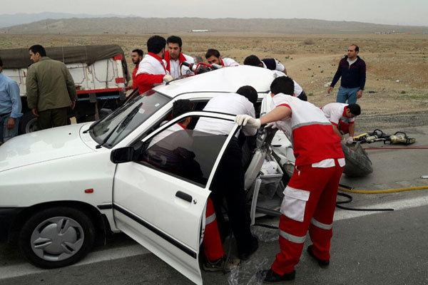 وقوع ٣ فقره تصادف عامل ترافیک آزادراه قم- تهران