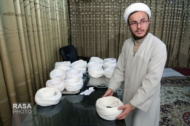 مراسم عمامه گذاری طلاب دانشگاه علوم اسلامی رضوی