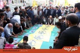 پیکر پنج شهید مدافع حرم در قم تشییع شد