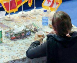 کشف حجاب ناظر مسابقه کشتی یادگار امام قم