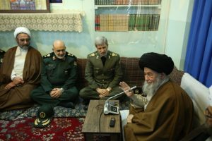 وزیر دفاع دیدار آیت الله علوی گرگانی