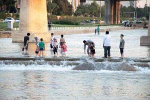 جاری شدن آب در قمرود باعث کاهش مصرف برق شده است