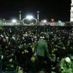 پیکر شهدای مقاومت به مسجد مقدس جمکران رسید