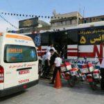 خدمات رسانی اورژانس قم به ۲۳۵ نفر در مراسم تشییع سردار سلیمانی