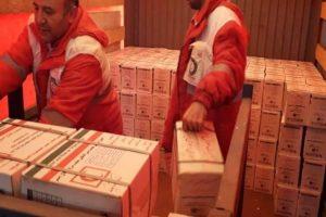 ارسال نخستین محموله کمکهای هلال احمر قم مناطق سیلزده سیستان