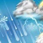 پیش بینی بارش باران و برف در قم