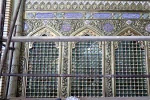 پنجره فولاد حرم کریمه اهل بیت (س) بازسازی شد