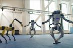 رقص گروهی رباتهای بوستون داینامکس/ ویدئو|شهرکریمه