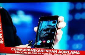 رجب طیب اردوغان با فیس تایم در حال سخنرانی کودتا ترکیه(فیلم)