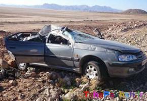 واژگونی خودرو مادر باردار را به کام مرگ کشاند
