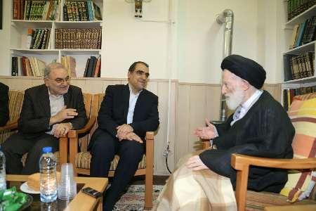 وزیر بهداشت با آیت الله شبیری زنجانی دیدار کرد