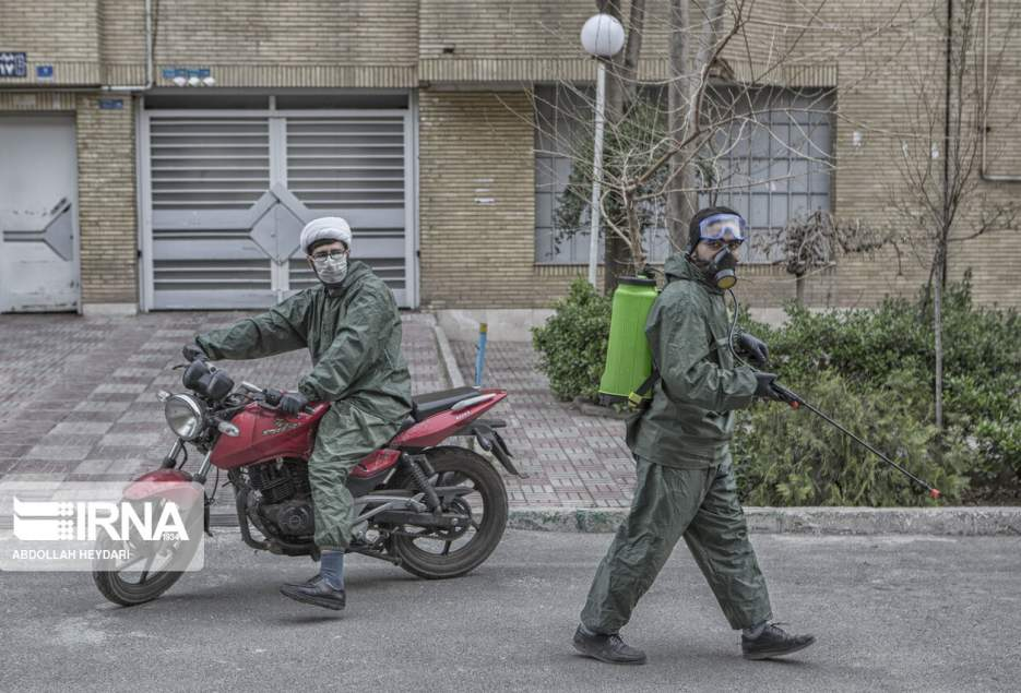 شهرکریمه – ۱۶۰ گروه جهادگر بسیجی درقم با کرونا مبارزه میکنند
